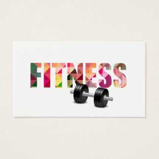 Fitness Personal Trainer Modern Typography Business Card