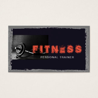 Fitness Personal Trainer Muscle Elegant Modern Business Card