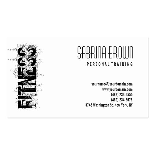 Fitness Personal Trainer White Business Card