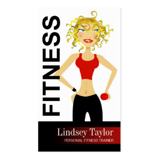 Fitness Pro 3 Blonde Personal Fitness Trainer Business Cards