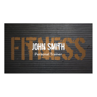 Fitness Professional Grunge Metal Personal Trainer Double-Sided Standard Business Cards (Pack Of 100)