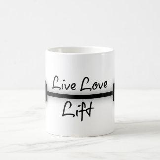 Fitness Quote: Live Love Lift Classic White Coffee Mug