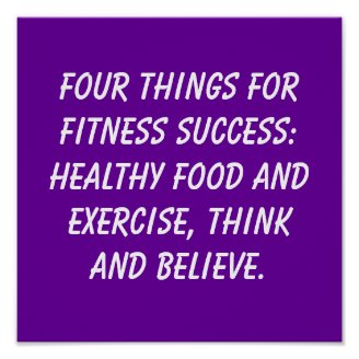 Fitness Quotes Print