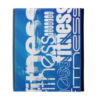 Fitness; Royal Blue Stripes iPad Folio Cases