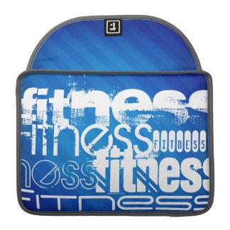 Fitness; Royal Blue Stripes MacBook Pro Sleeve
