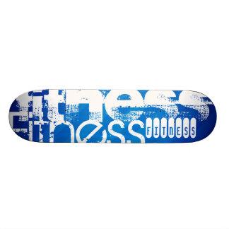 Fitness; Royal Blue Stripes Skate Board Decks