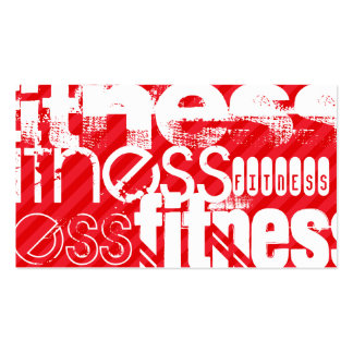 Fitness; Scarlet Red Stripes Pack Of Standard Business Cards