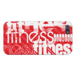Fitness; Scarlet Red Stripes Case For iPhone 5/5S