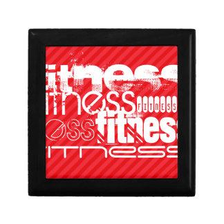 Fitness; Scarlet Red Stripes Trinket Box