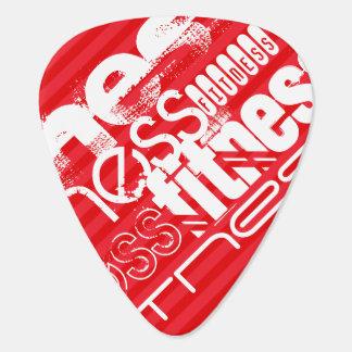 Fitness; Scarlet Red Stripes Guitar Pick