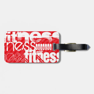 Fitness; Scarlet Red Stripes Luggage Tag