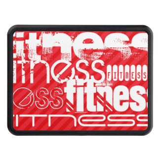 Fitness; Scarlet Red Stripes Hitch Cover