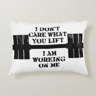 Fitness Self Motivation Decorative Pillow
