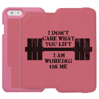 Fitness Self Motivation iPhone 6/6s Wallet Case