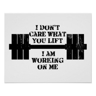 Fitness Self Motivation Poster