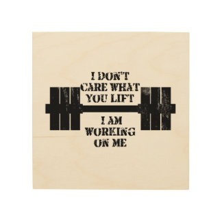 Fitness Self Motivation Wood Canvases