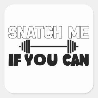 Fitness Snatch Square Sticker