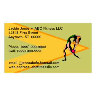 Fitness Sports Balls Exercise Business Cards Card