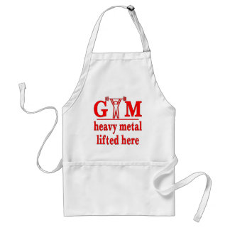 Fitness Strength Gym Heavy Metal Lifted Here Adult Apron