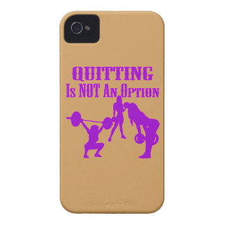 Fitness, Strength Training, Quitting Not An Option iPhone 4 Cover