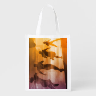 Fitness Technology and Sports Monitoring Data Reusable Grocery Bags