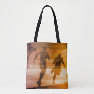 Fitness Technology and Sports Monitoring Data Tote Bag