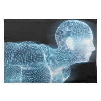 Fitness Technology Science Lifestyle as a Concept Cloth Placemat