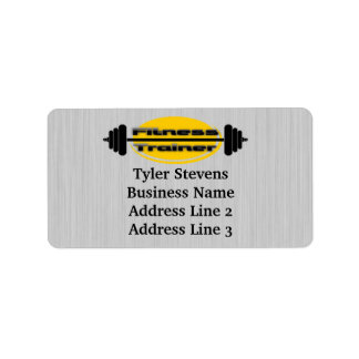 Fitness Trainer Barbell Address Labels