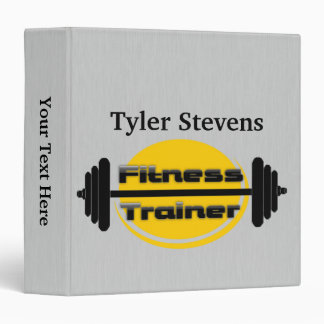 Fitness Trainer Barbell Binder 1.5""