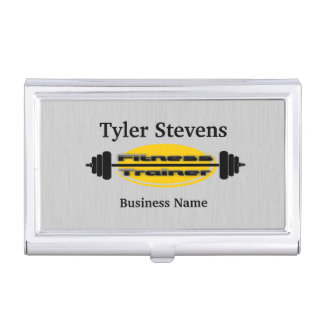 Fitness Trainer Barbell Business Card Holder