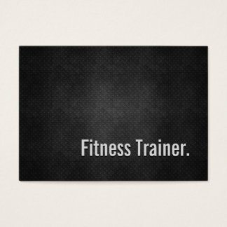 Fitness Trainer Cool Black Metal Simplicity Business Card