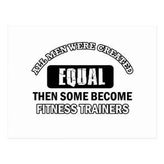 Fitness Trainer designs Postcard