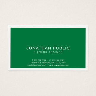 Fitness Trainer Elegant Modern Professional Sport Business Card