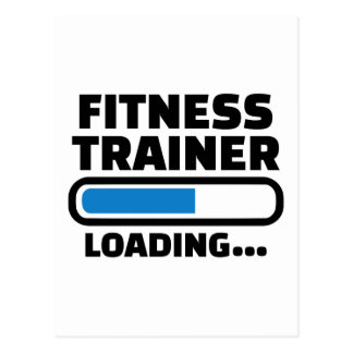 Fitness trainer loading postcard