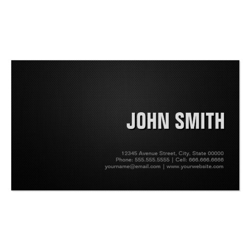 Fitness Trainer Professional Black Silver Business Card (back side)