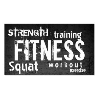 Fitness Trainer Professional Dark Loyalty Punch Business Card
