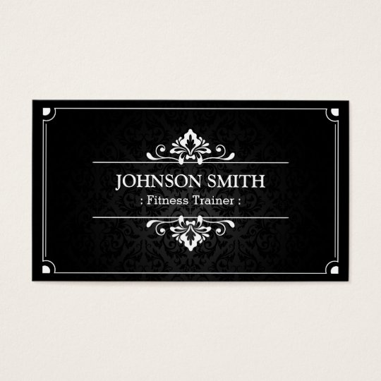 Fitness Trainer - Shadow of Damask Business Card