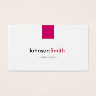 Fitness Trainer - Simple Rose Pink Business Card