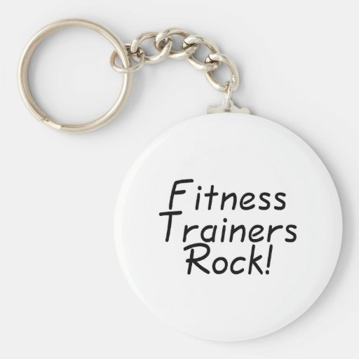 Fitness Trainers Rock Basic Round Button Keychain