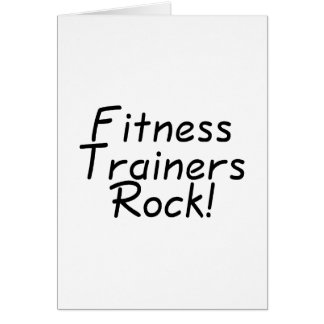 Fitness Trainers Rock Greeting Card