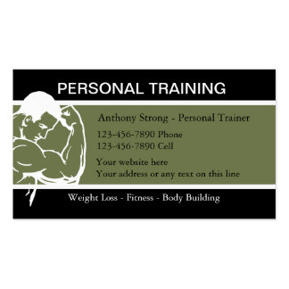 Fitness Trainging Business Cards