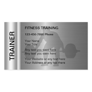Fitness Training Business Cards