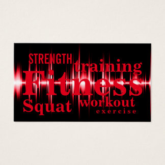 Fitness Training Cool Red Professional Business Card