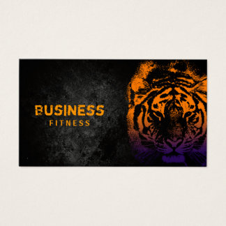 Fitness Training Cool Tiger Professional Business Card
