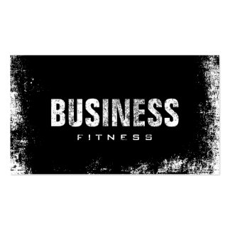 Fitness Training Professional Dark Grunge Business Card