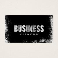 Fitness Training Professional Dark Grunge Business Card