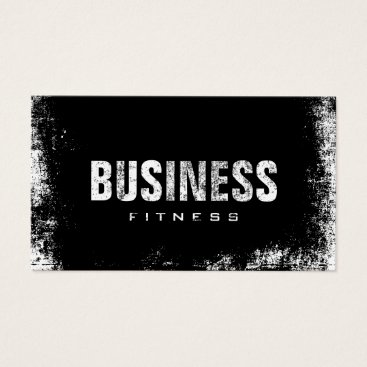cardfactory Fitness Training Professional Dark Grunge Business Card