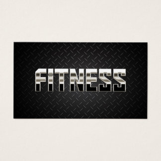 Fitness Training Professional Steel & Metal Business Card