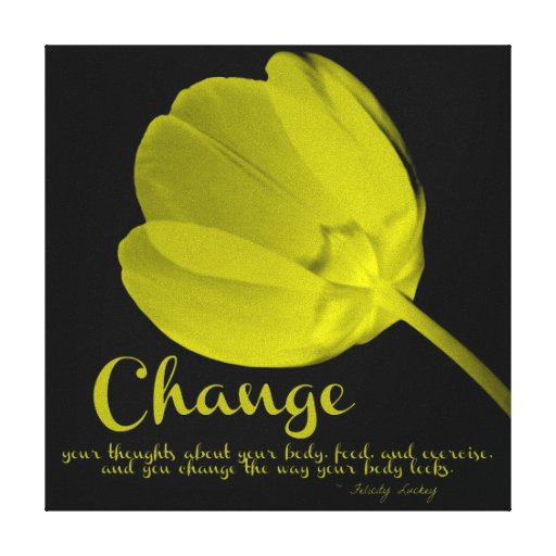 Fitness Tulip Yellow Change Canvas Canvas Print