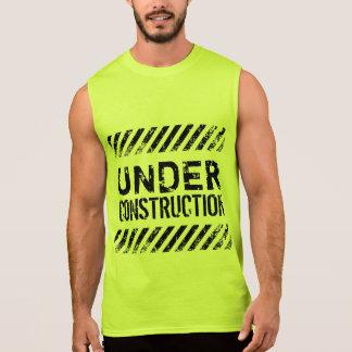 Fitness Under Construction Gym Workout Sleeveless Shirt